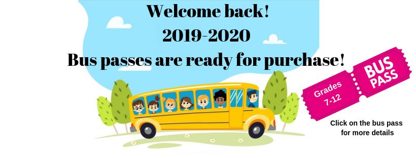 2019-2020 Bus passes